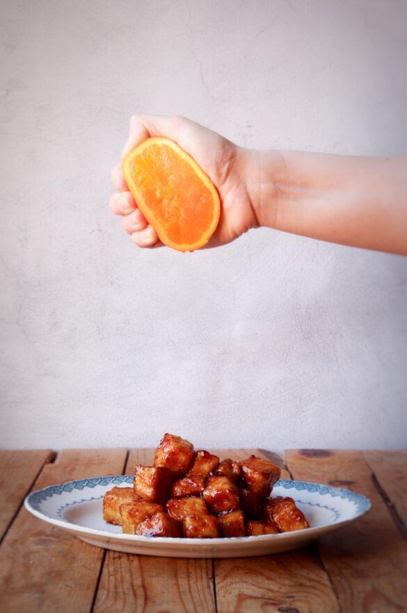 tofu i alpelsinmarinad