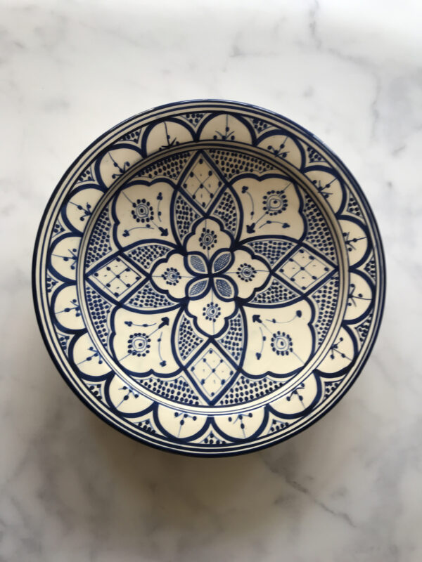 Marockanskt fat blå
